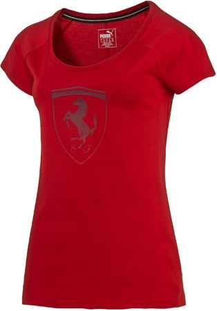 Puma ženska majica Ferrari Big Shield Tee, crvena, XS