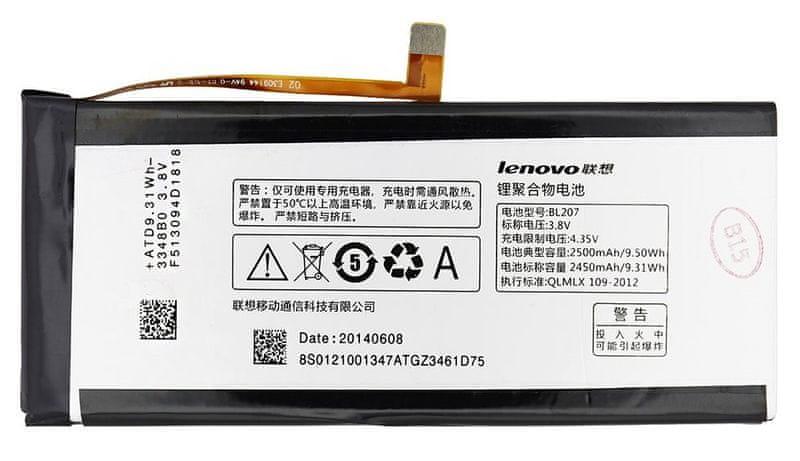 Lenovo baterie, BL207, 2500mAh, Li-Ion, BULK