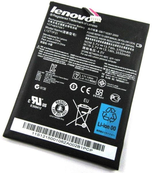 Lenovo baterie, L12T1P31, 3550mAh, Li-Pol, BULK