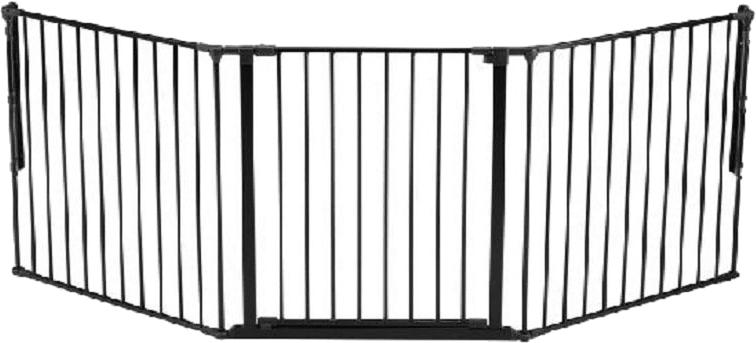 BabyDan Prostorová zábrana New Flex L 90-225 cm, černá