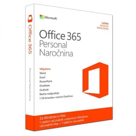 Microsoft Office 365 Personal Slovenian EuroZone, Medialess, 1 letna naročnina