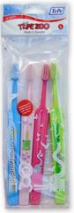 Tepe Kids Extra Soft 4-pack Detské zubné kefky