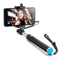 Anker žična selfie-stick palica, črno-modra