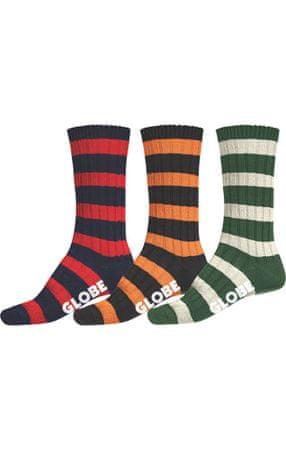 GLOBE 3 pack férfi zokni Thin Stripe Boots Deluxe többszínű