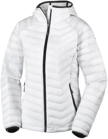 Columbia jakna Powder Lite Hooded, bela/črna, M