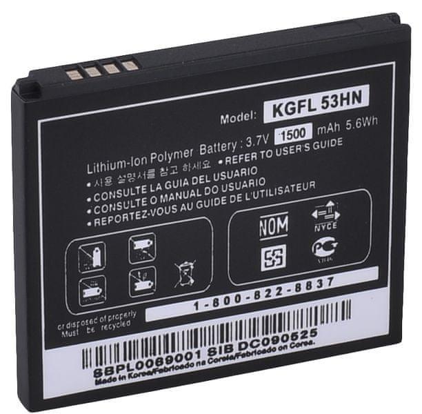 LG baterie, KGFL-53HN,1500mAh, Li-Ion, BULK