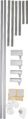 BabyDan Rozbudowa barierki - 2szt, 7cm - buk, srebrne