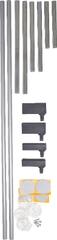 BabyDan podaljšek za varnostno ograjo NEW 2kosa, kovinsko srebrn