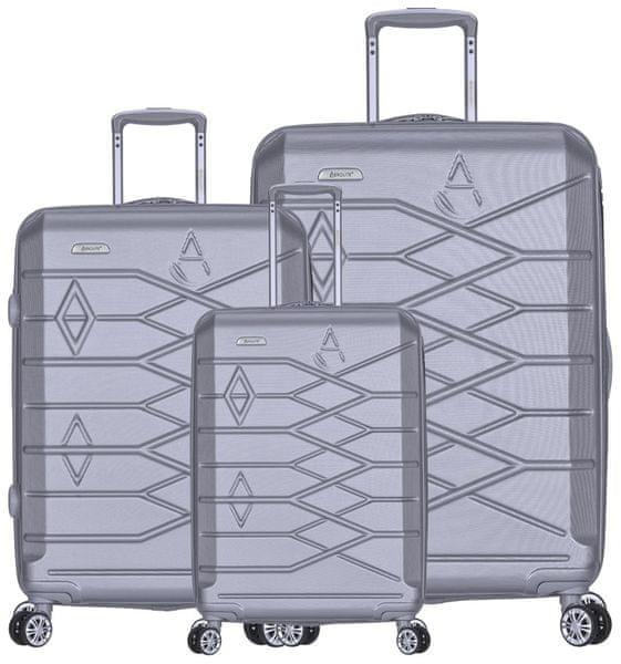 REAbags Aerolite sada cestovních kufrů T-315/3 stříbrná