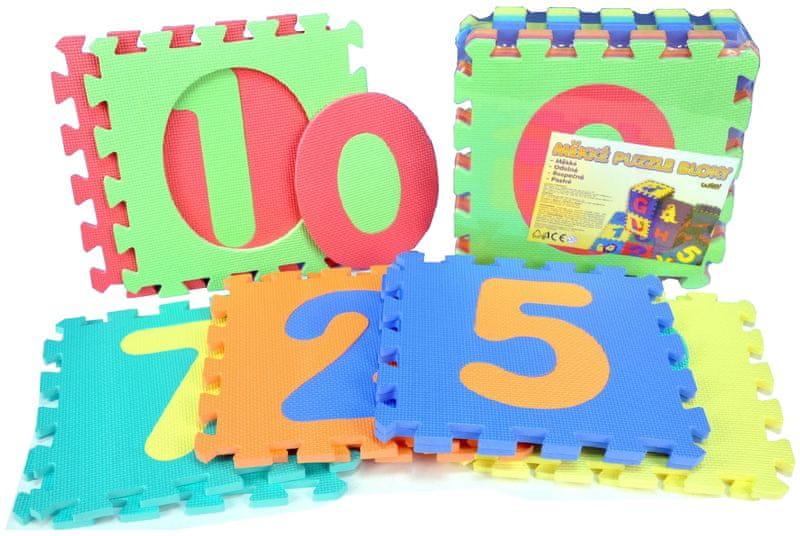 Teddies BABY Pěnové puzzle Číslice 30x30cm