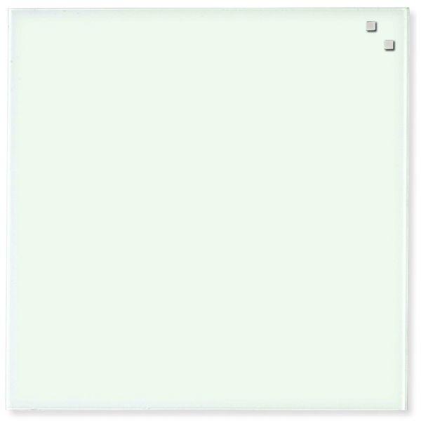 Skleněná magnetická tabule NAGA bílá 35x35 cm