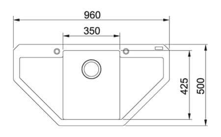 FRANKE zlewozmywak granitowy MRG 612 E, biały polarny (114.0201.795)