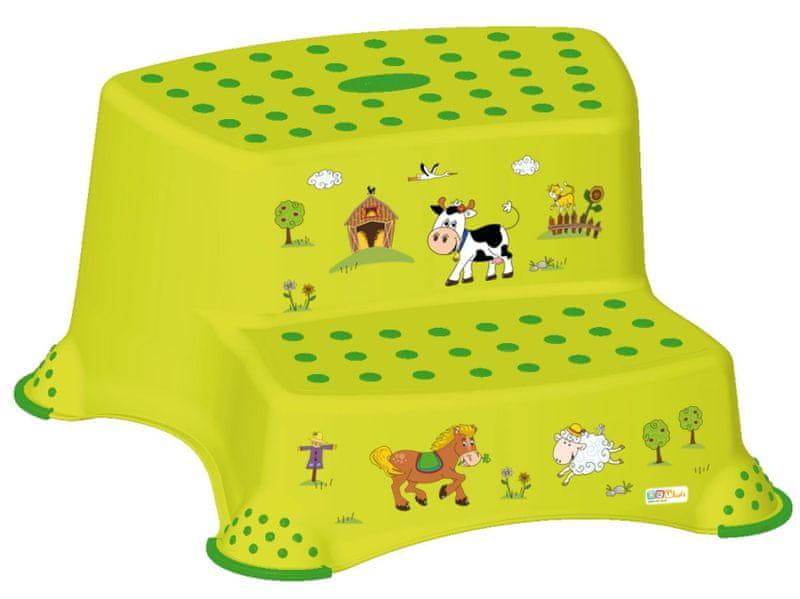 OKT Dvojstupínek Funny Farm, zelená