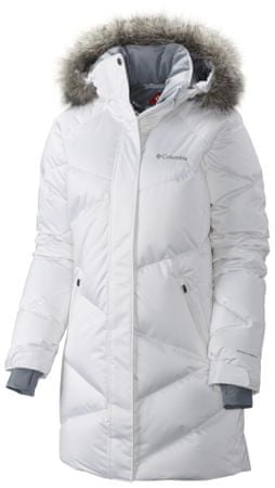 COLUMBIA Lay D Down Mid Jacket White Satin L