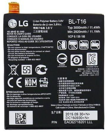 LG baterie, BL-T16, 3000mAh, Li-Ion, BULK - II. jakost