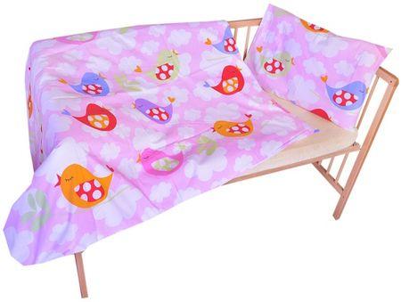 COSING otroška posteljnina, 100 x 135 cm, Roza ptice
