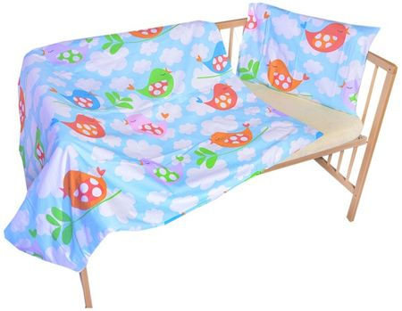 COSING otroška posteljnina, 100 x 135 cm, Modre ptice