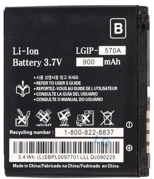LG baterie, LGIP-570A, 900mAh, Li-Ion, BULK