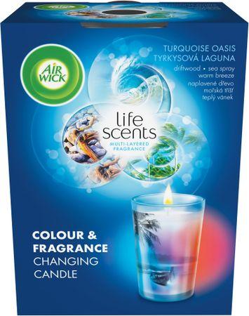 Air wick Multicolor aromatična svečka Turquoise Oasis, 140g