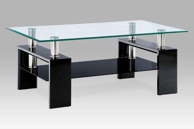 Konferenční stolek AF-1024, černá/sklo