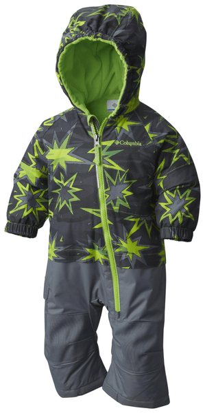 Columbia Little Dude Suit Green Mamba Print 12/18