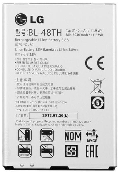 LG baterie, BL-48TH, 3140mAh, Li-Ion, BULK