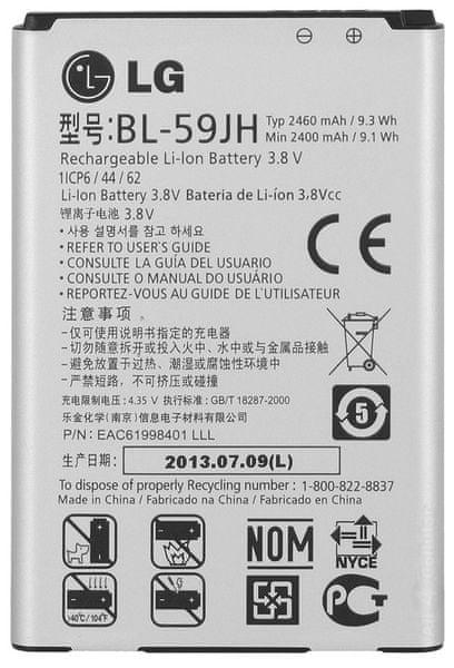 LG baterie, BL-59JH, 2460mAh, Li-Ion, BULK