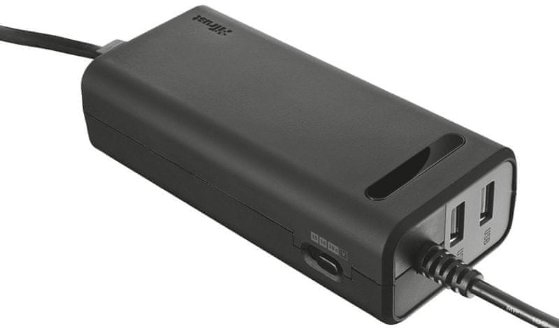 Trust Duo 90W Laptop charger with 2 USB ports (20878)