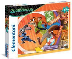 Clementoni Puzzle 104 Zootropolis - Állati Nagy Balhé