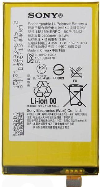 Sony baterie, 1293-8715, 2700mAh, Li-Pol, BULK