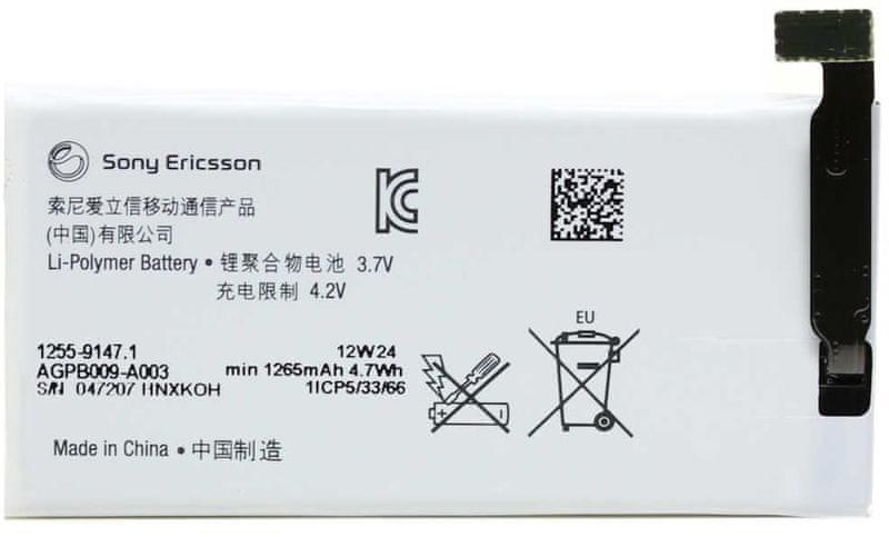 Sony baterie, 1255-9147, 1265mAh, Li-Pol, BULK