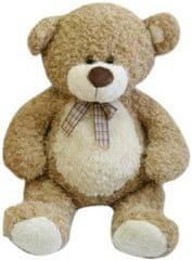 Teddies Medveď plyš 80cm béžový s mašľou