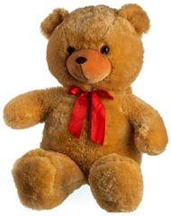 Teddies Medveď plyš 80 cm svetlohnedý s mašľou