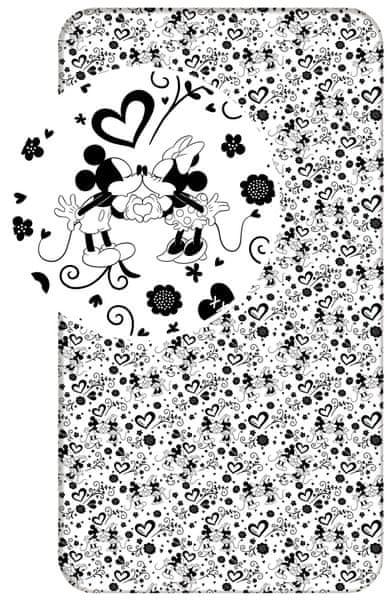 Jerry Fabrics Mickey hearts prostěradlo 90x200 cm