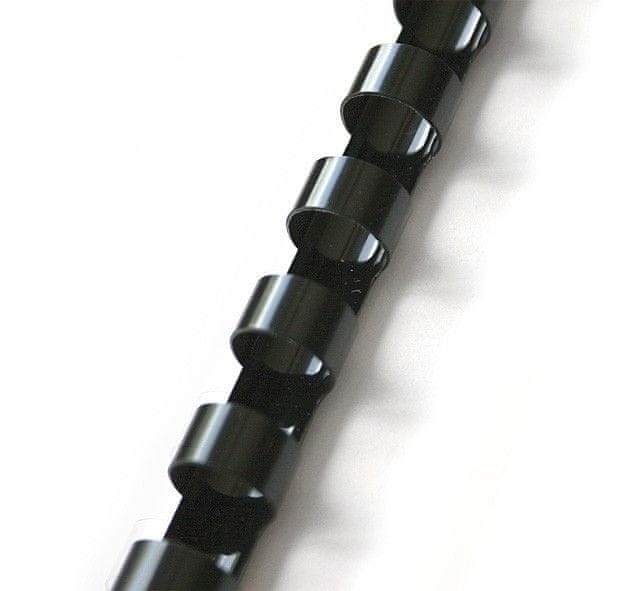 Hřbet pro kroužkovou vazbu 22 mm černý / 50 ks