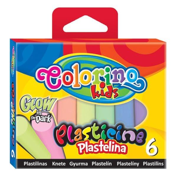Modelína Colorino svítící ve tmě 6 barev