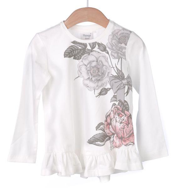 Primigi dívčí tričko s volánkem 116 smetanová