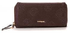 Desigual portfel damski brązowy