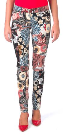 Desigual dámské kalhoty 30 vícebarevná