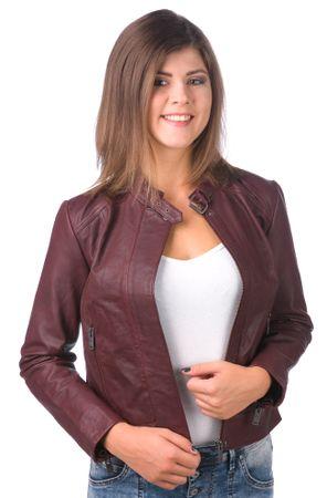 Pepe Jeans ženska jakna Emilia S bordo rdeča