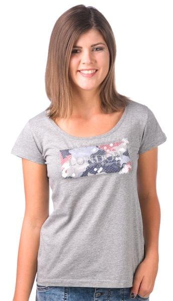 Pepe Jeans dámské tričko Fiona M šedá