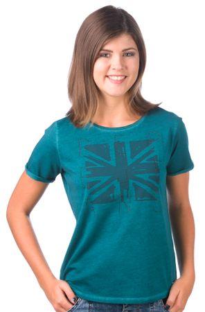 Pepe Jeans dámské tričko Mati XS tmavě zelená