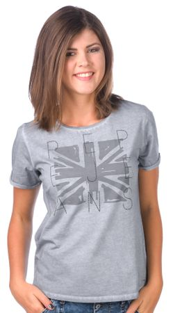 Pepe Jeans dámské tričko Mati L šedá