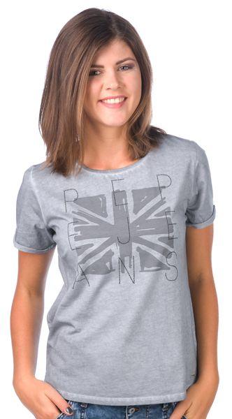 Pepe Jeans dámské tričko Mati M šedá
