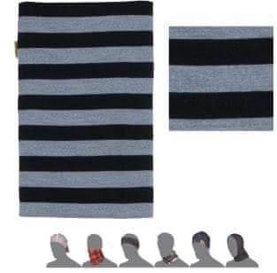 Sensor Tube Merino Wool Černá Pruhy