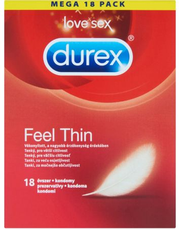 Durex kondomi Feel Thin, 18 kosov