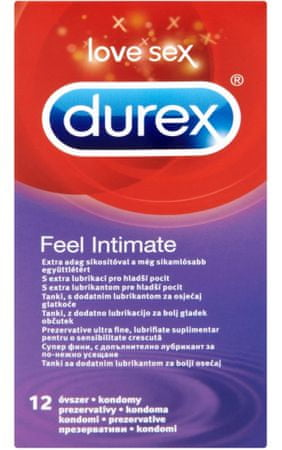 Durex kondomi Feel Intimate, 12 kosov