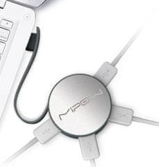 MiPOW TOPP USB Hub, stříbrná