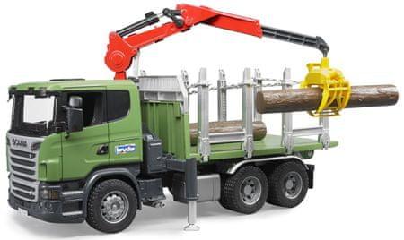BRUDER 3524 Samochód do przewozu drewna Scania