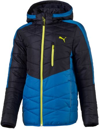 Puma otroška jakna Active Norway B Peacoat Electric, modra/črna, 104